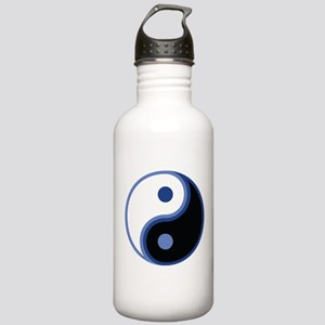 Yin Yang, Blue Stainless Water Bottle 1.0L